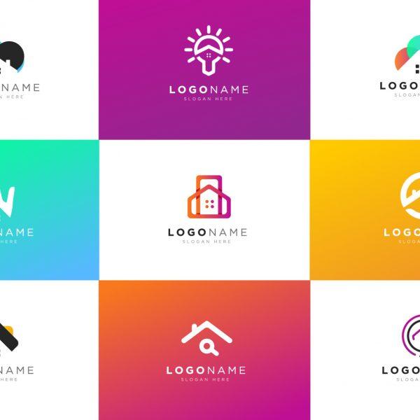 real estate modern logos