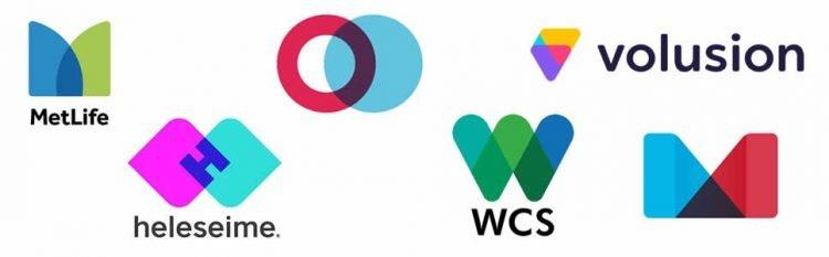 Overlapping logo design