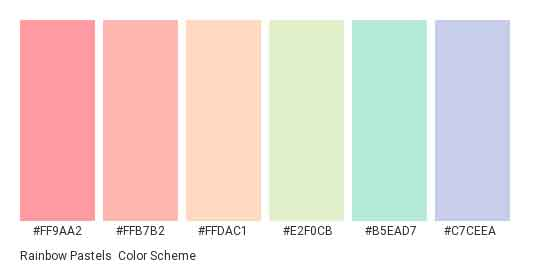 rainbow pastels color