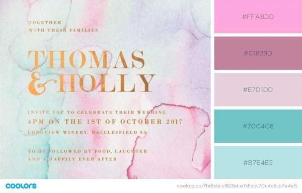 Invitations with Pastels